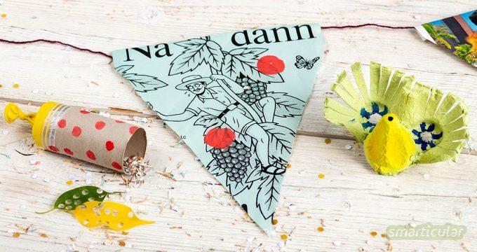 Auch Feiern und Spaßhaben geht müllfrei: mit zahlreichen Kinderfasching-Tipps für Kostüme, Süßigkeiten, Spiele und Deko feierst du dieses Jahr Zero-Waste-Fasching.