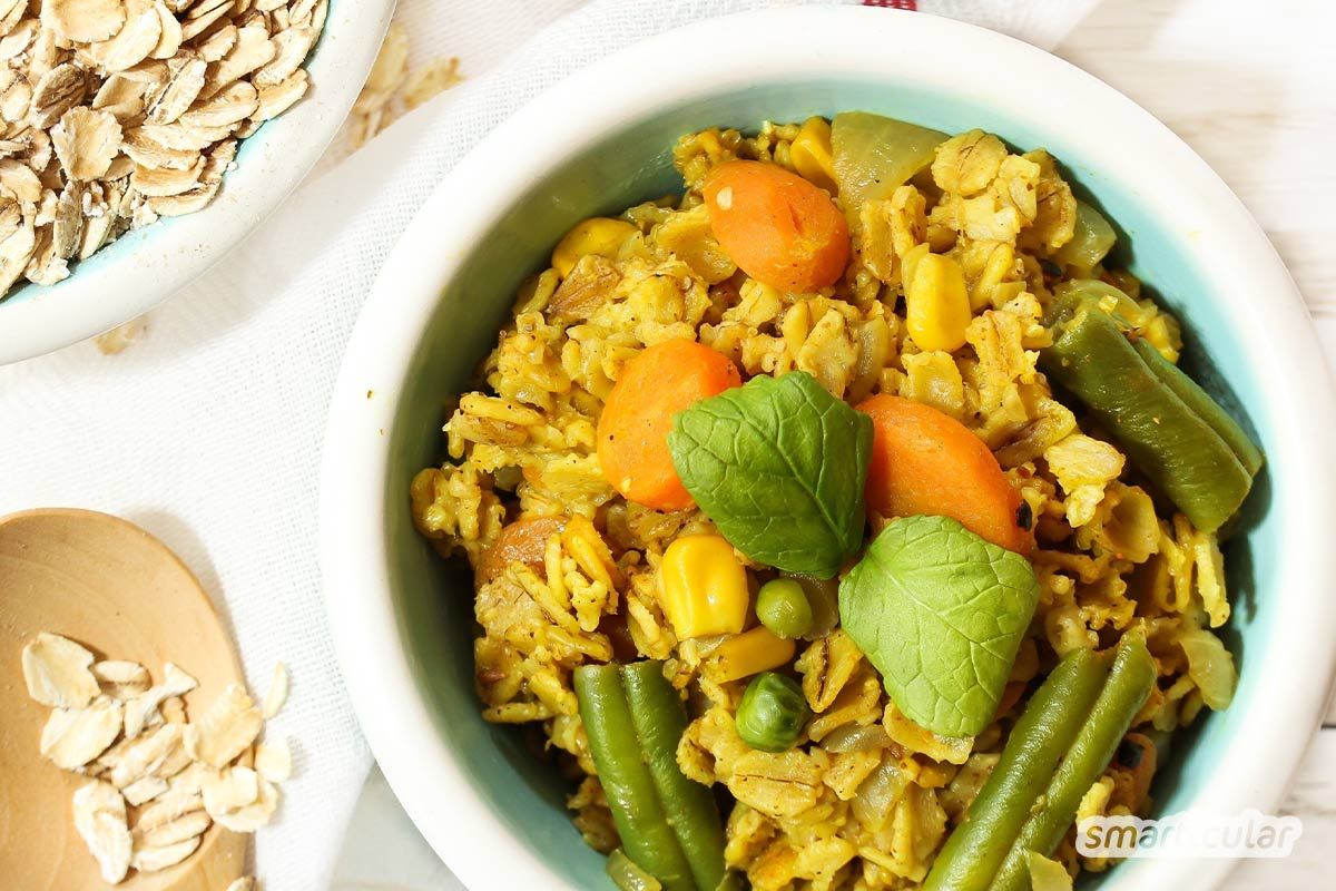 Haferflocken-Rezepte schmecken gut zum Frühstück oder als Abendessen. Nicht nur als Oatmeal - auch in Gebäck und anderen Speisen sorgen die gesunden Getreideflocken für den besonderen Biss.