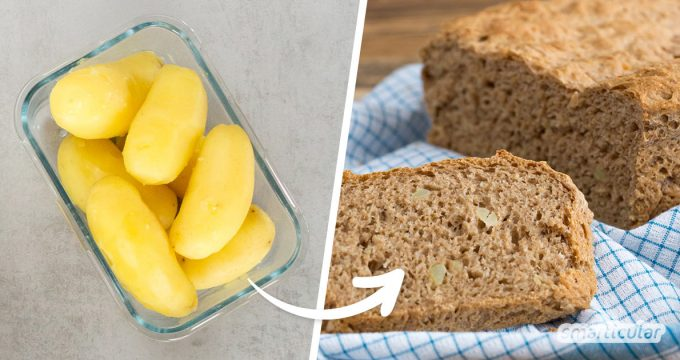 Ein herzhaftes Kartoffelbrot ist sowohl warm als auch kalt ein wahrer Leckerbissen. Mit diesem Rezept kannst du Kartoffelbrot mühelos zu Hause selber backen und darin übrig gebliebene Kartoffeln verwerten.