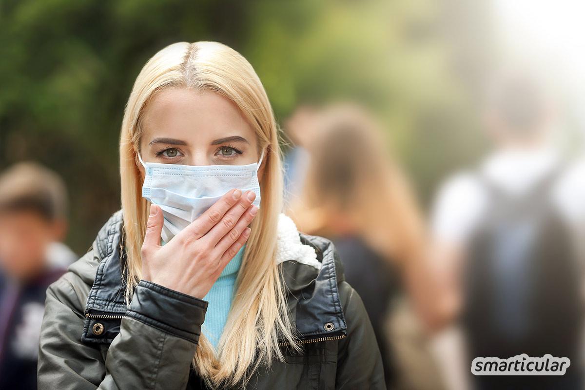 Ein wiederverwendbarer Mundschutz lässt sich einfach selber nähen. Doch hält er Staub, Allergene und Krankheitserreger wirklich fern? Hier erfährst du, wann die Schutzmaske sinnvoll ist.