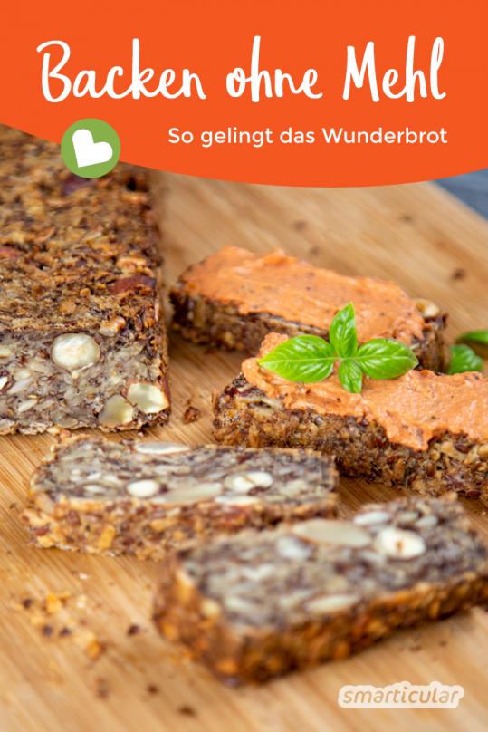 Ein Brot ohne Mehl und Backtriebmittel, dafür mit umso mehr gesunden Vital- und Ballaststoffen - das sogenannte Wunderbrot. Wir haben es getestet!