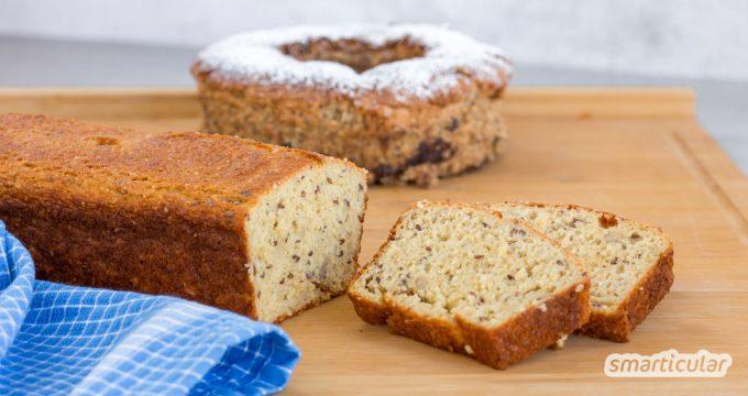 Backen ohne Mehl ist bei herzhaftem Gebäck ebenso möglich wie bei Kuchen. Mit diesen Rezepten gelingen Kuchen und Brot mehlfrei!