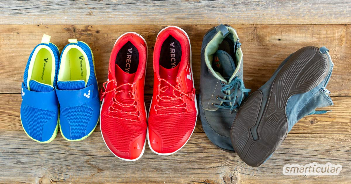 Barfußschuhe ermöglichen viele positive Effekte des Barfußlaufens, auch in der Stadt. Dabei tun nachhaltige Barfußschuhe den Füßen und der Umwelt etwas Gutes.