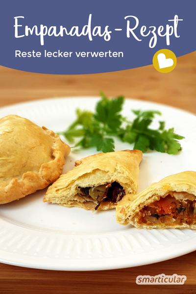 Mit diesem Empanadas-Rezept lassen sich die köstlichen Teigtaschen ganz einfach selber machen. Ein ideales Rezept zur Resteverwertung!