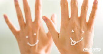 Eine pflegende Handcreme selber zu machen, muss nicht kompliziert sein. Mit diesen einfachen Rezepten ist die natürliche Handpflege schnell einsatzbereit.