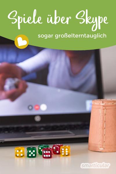 Spiele über Skype, die auch großelterntauglich sind: Bei weiten Entfernungen und in Zeiten von Corona macht der Kontakt per Videochat so noch mehr Spaß!