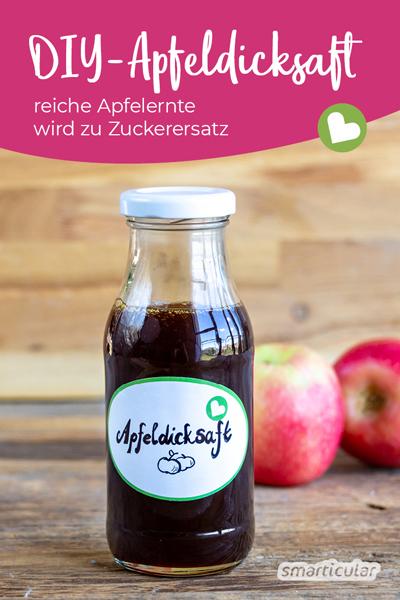 Im Herbst weiß man manchmal gar nicht, wohin mit den ganzen reifen Äpfeln. Eine schlaue Idee ist es, daraus Apfeldicksaft selber zu machen!