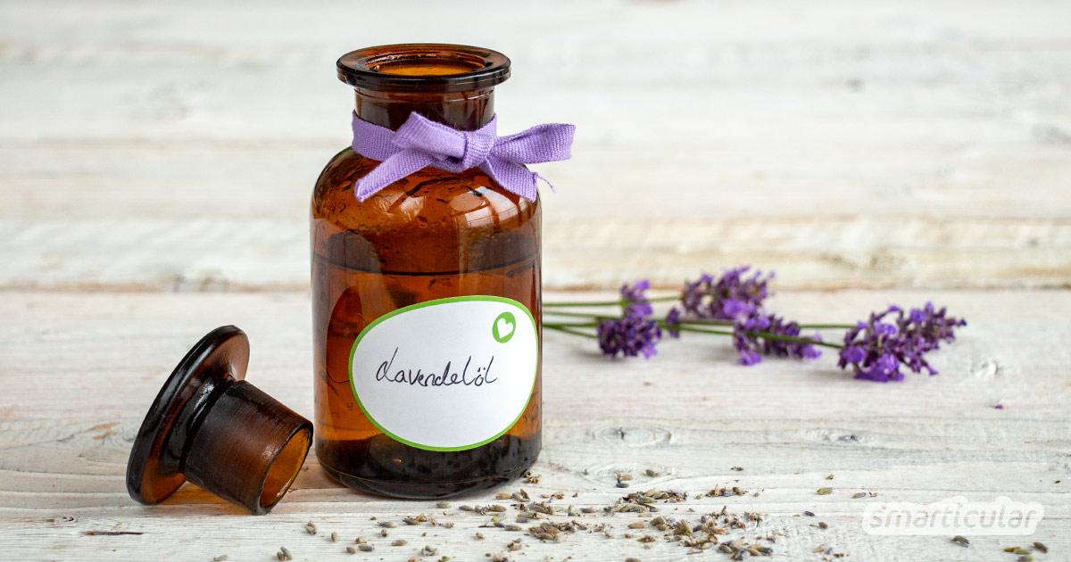Um die heilsamen Wirkungen von Lavendel nutzen zu können, kann man beruhigendes, entspannendes Lavendelöl selber machen und vielseitig einsetzen.