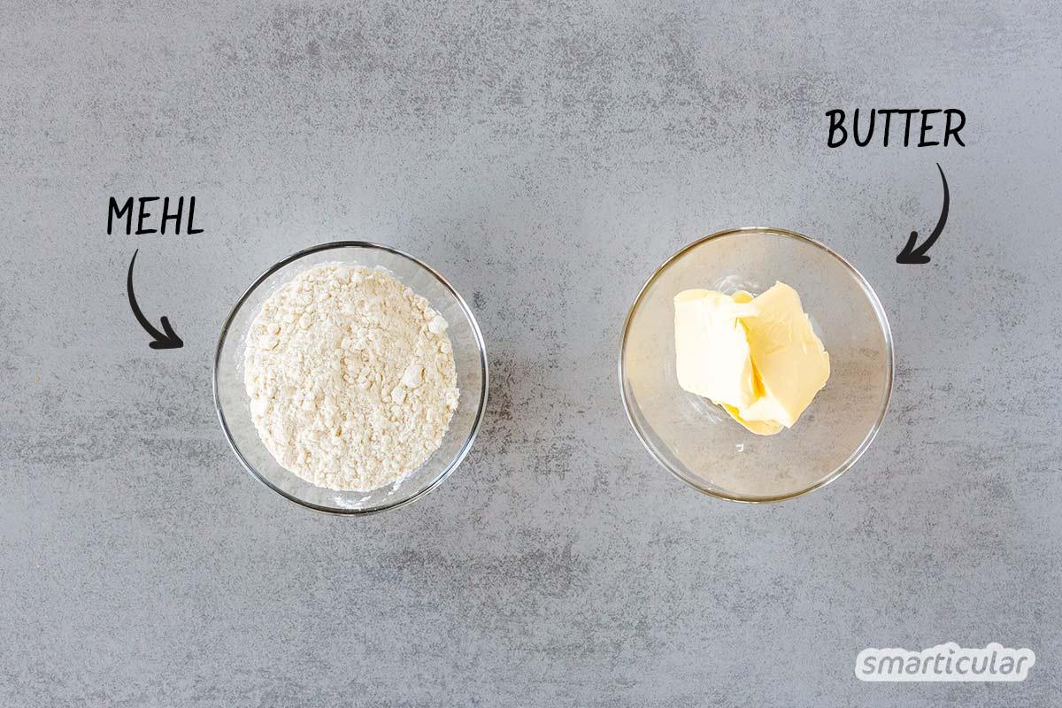Aus nur zwei Zutaten lässt sich eine Mehlschwitze selber machen, die einen Soßenbinder mit allerlei Zusatzstoffen überflüssig macht.