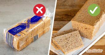 Ein Vollkorntoastbrot selber zu backen, ist ganz einfach! So bestimmst du allein, was drin ist, und sparst zudem Plastikverpackung und unnötige Zusatzstoffe.