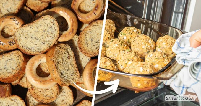 Brotreste lassen sich noch zu allerlei Köstlichem verarbeiten - zum Beispiel zu herzhaften oder süßen Brotbällchen zum Snacken. Hier gibt's das Rezept!