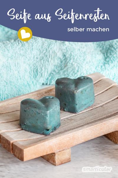 Seife aus Seifenresten herzustellen, ist ganz einfach. Hier findest du eine Schritt-für-Schritt-Anleitung - vom Seifenreste-Einschmelzen bis zur neuen Seife.