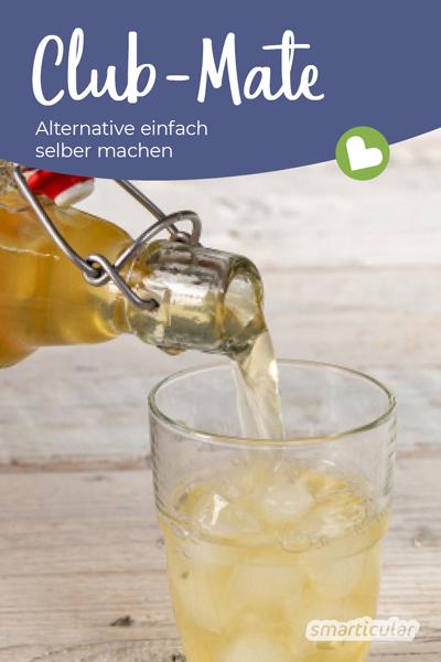 Alternative zu Club Mate selber machen und auf Zusatzstoffe wie in Club Mate, Mio Mio Mate und Co. verzichten? Ganz einfach mit diesem köstlichen Rezept für Mate-Eistee!