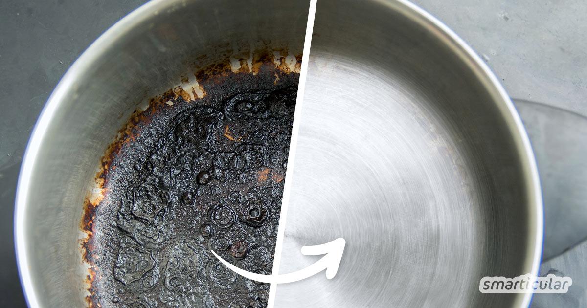Mit diesen umweltfreundlichen Hausmitteln lassen sich angebrannte Töpfe reinigen - effektiv und ohne schweißtreibendes Schrubben.
