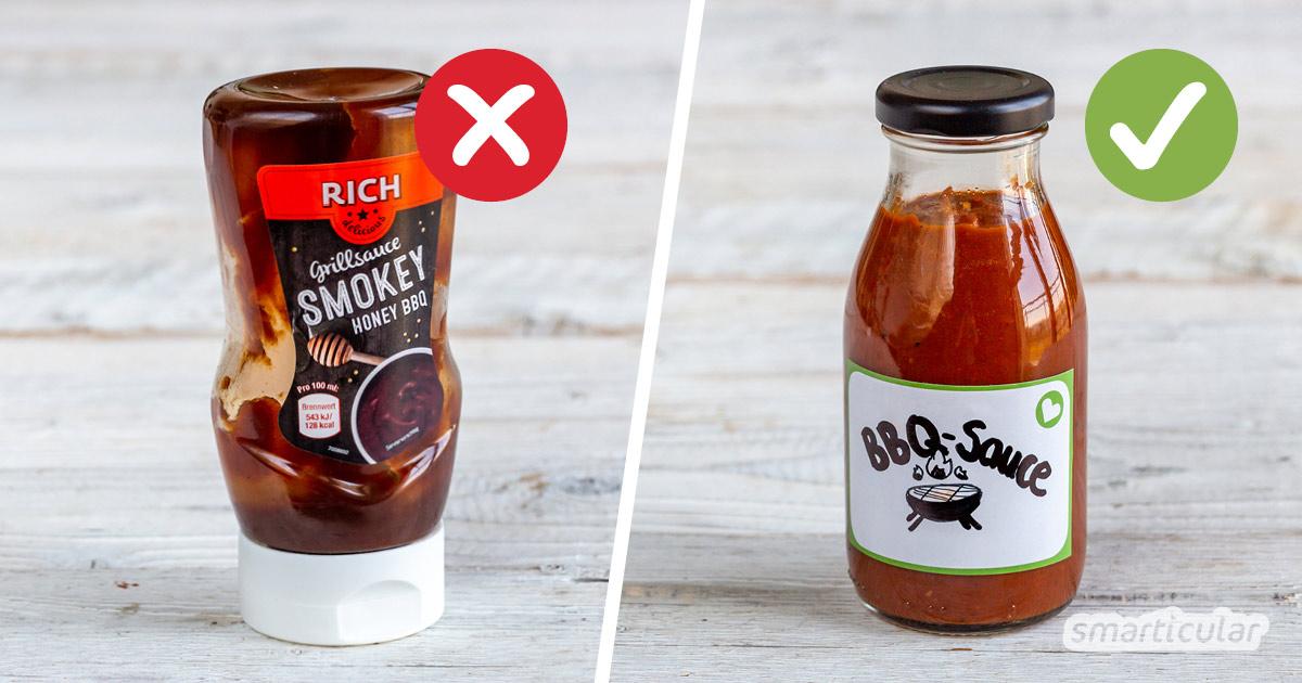 Mit diesem Rezept kannst du vegane, zuckerfreie BBQ-Sauce selber machen. Damit werden Fertigprodukte mit unnötigen Zusatzstoffen überflüssig.