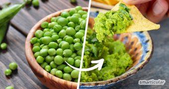 Guacamole ohne Avocado: Das ist einfach und gelingt genauso cremig und erfrischend wie das Original. Probiere Erbsen-Guacamole als regionale Alternative!