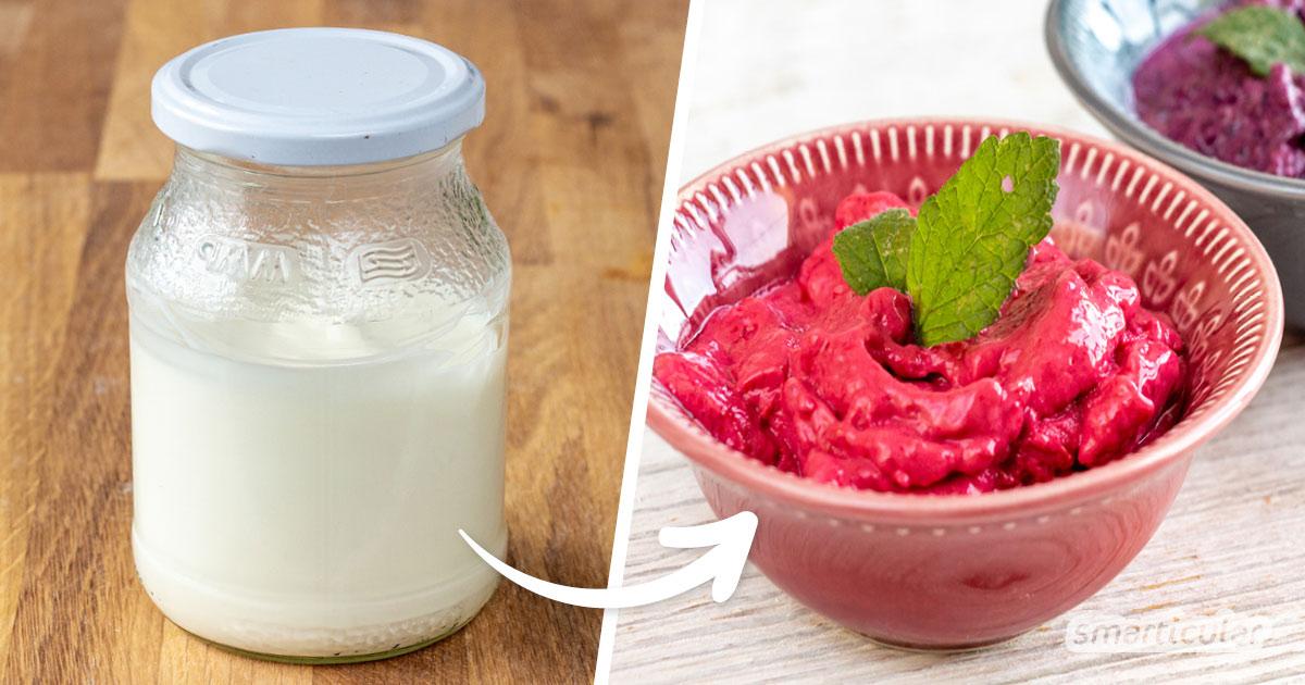 Mit diesem Blitzrezept für schnellen Frozen-Joghurt kannst du die sommerliche Erfrischung schon nach wenigen Minuten genießen!