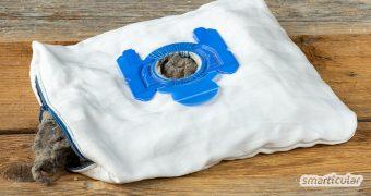 Einen Mehrweg-Staubsaugerbeutel selber zu machen, ist gar nicht so schwer! Du kannst ihn aus Stoffresten nähen, wiederverwenden und so viel Geld und Abfall sparen.