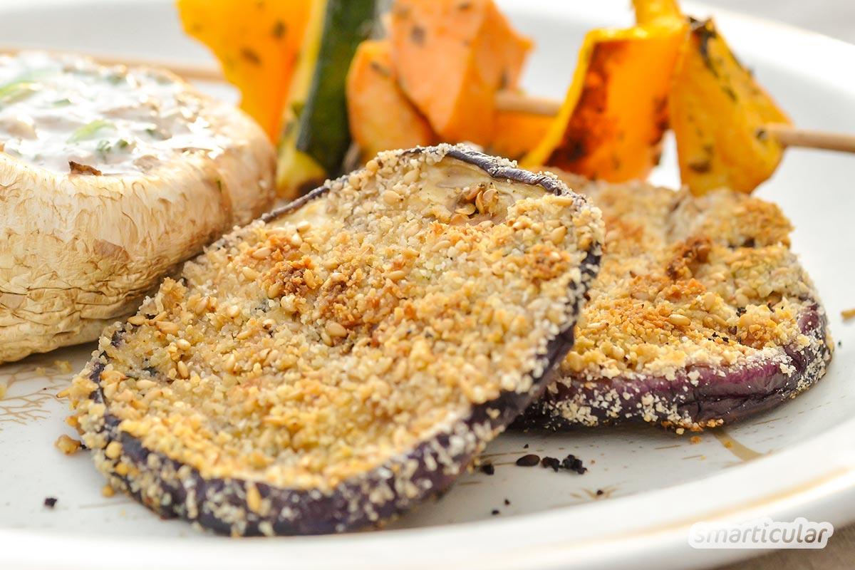 Vegan grillen und nicht nur Gemüse auf den Rost werfen? Das geht mit herzhaften Spießen, würzigen Steak-Alternativen und sogar Nachtisch vom Grill!