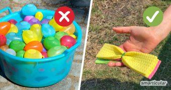 Wiederverwendbare Wasserbomben selber zu machen, ist kinderleicht und spart jede Menge Müll und Mikroplastik.