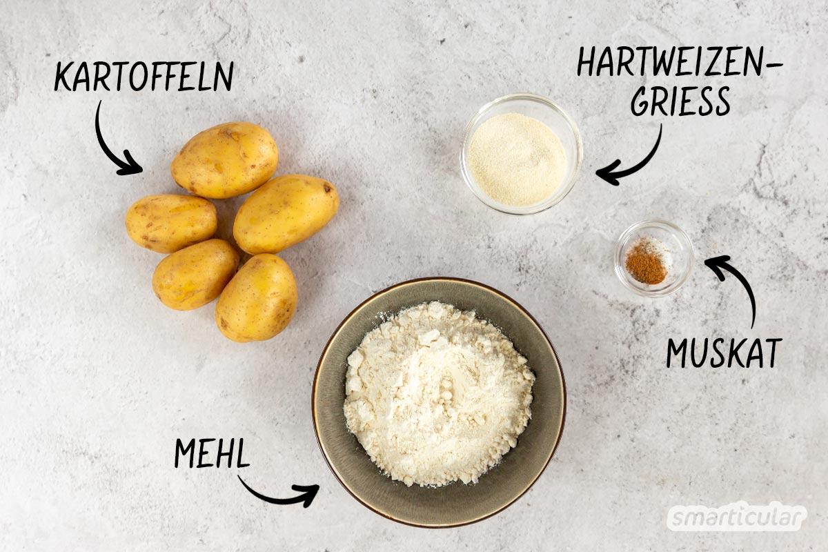 Gnocchi selber machen ist viel leichter, als man vielleicht denkt. Du brauchst dafür nur drei pflanzliche Zutaten und sparst unnötigen Verpackungsmüll.