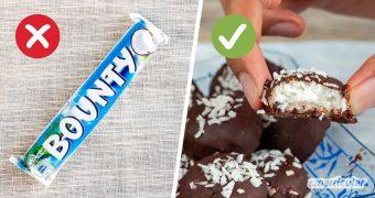 Bounty selber zu machen mit gesunder Süße und veganen Zutaten, geht ganz einfach. Die Low-Carb-Riegel sind eine köstlich leichte Nascherei!