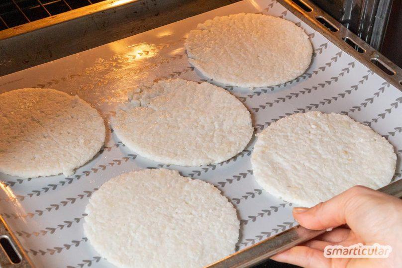 Reiswaffeln selber zu machen, gelingt zwar nicht exakt wie das Original. Sie schmecken selbst gemacht aber eigentlich viel besser - auch aus Reisresten!