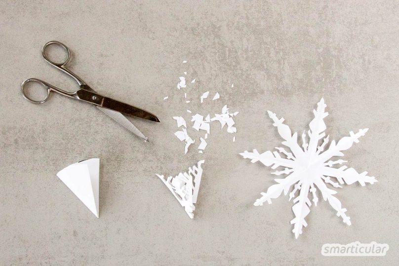 Mit einer selbst gemachten Sprühschnee-Alternative aus nur zwei Zutaten holst du dir den Winter ans Fenster - garantiert ungiftig und rückstandslos abwischbar.