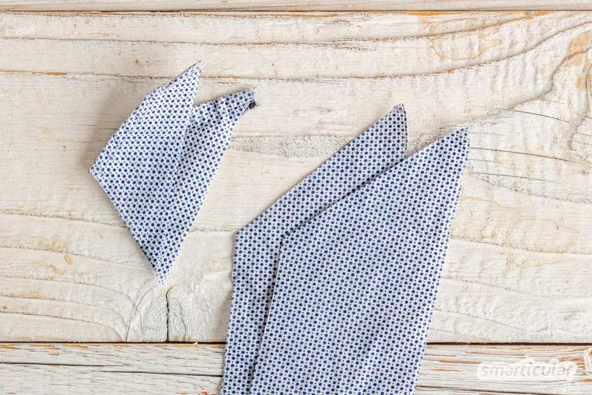 Statt Geschenkband zu kaufen und nach einmaliger Verwendung wegzuwerfen, kannst du es ohne Plastik und Müll aus Wolle, Stoff und Papier selber machen.