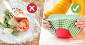 Alternativen zu Frischhaltefolie gibt es in großer Zahl. Sie alle helfen, Müll zu vermeiden, und schonen die Umwelt. Hier findest du die besten Tipps, um Frischhaltefolie zu ersetzen.