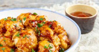 So schnell wie aus dem Drive-in, aber viel gesünder, sind köstliche selbst gemachte Blumenkohl-Wings in scharfer BBQ-Marinade!