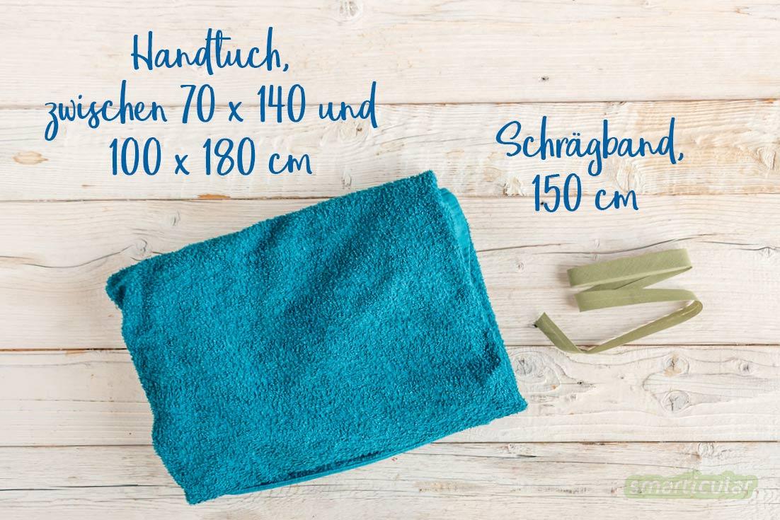 Ein Handtuchkleid zu nähen, ist ganz einfach mit einem ausgedienten Badetuch. Das entstandene Strand- oder Saunakleid macht die Umkleide überflüssig.
