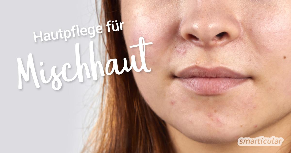 Das Gesicht lässt sich auch bei Mischhaut ganz einfach und natürlich pflegen ohne unzählige verschiedene Produkte.