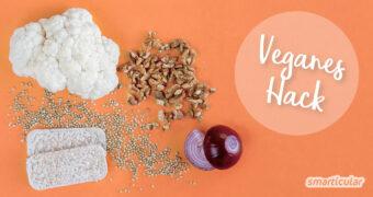 Veganes Hackfleisch muss gar keine lange Zutatenliste haben. Linsen, Nüsse, Getreide und mehr lassen sich mindestens genauso unkompliziert als schnelle Hackfleisch-Alternative zubereiten!