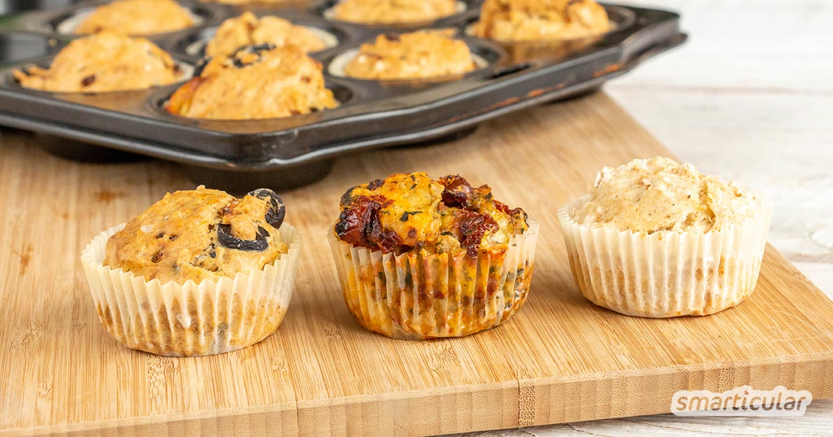 Herzhafte Muffins sind mehr als ein köstlicher Snack für zwischendurch! Mit diesem Grundrezept zauberst du leicht die verschiedensten pikanten Muffins.