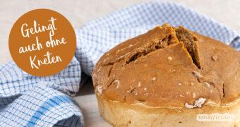 """Ein Brot ohne Kneten lässt sich zu Hause einfach selber backen. Alles, was du für ein """"no knead bread"""" brauchst, ist ein Topf und etwas Geduld."""