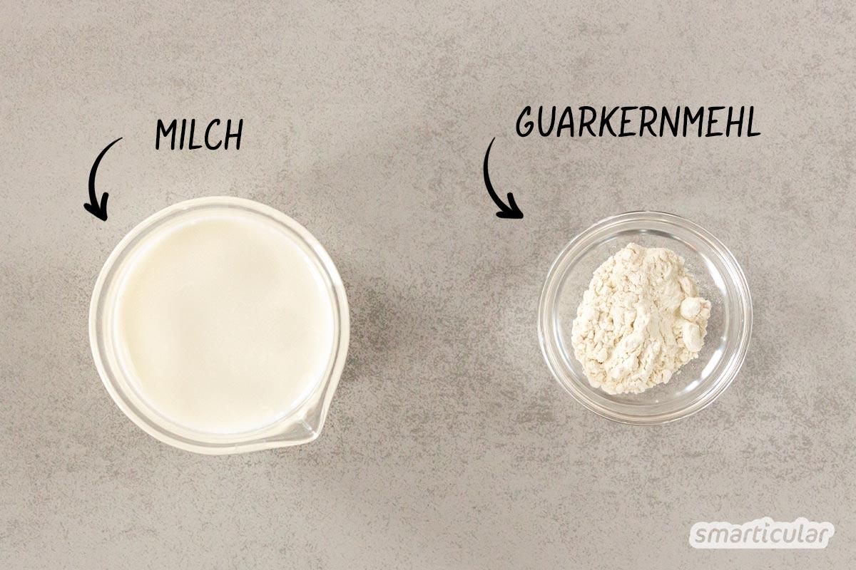 Paradiescreme lässt sich im Handumdrehen und mit wenigen Zutaten selber machen - preiswerter und mit weniger Verpackungsmüll als bei einem Fertigprodukt.