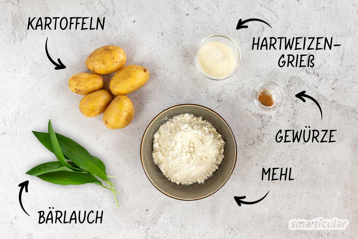 Bärlauch hat im Frühjahr Saison - um das ganze Jahr über von dem gesunden, aromatischen Kraut zu profitieren, probiere dieses Rezept für haltbare Bärlauch-Gnocchi aus!