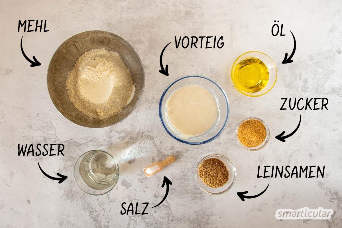 Vegane Waffeln mit Sauerteig sind innen wunderbar saftig und außen schön kross. Mit diesem einfachen Rezepten gelingt der Waffelgenuss garantiert.