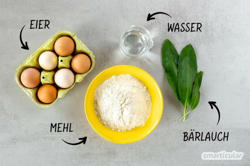 Probiere dieses einfache Rezept für grüne Bärlauchspätzle aus! Die Spätzle lassen sich vielseitig in unzähligen Gerichten einsetzen oder als Beilage servieren.