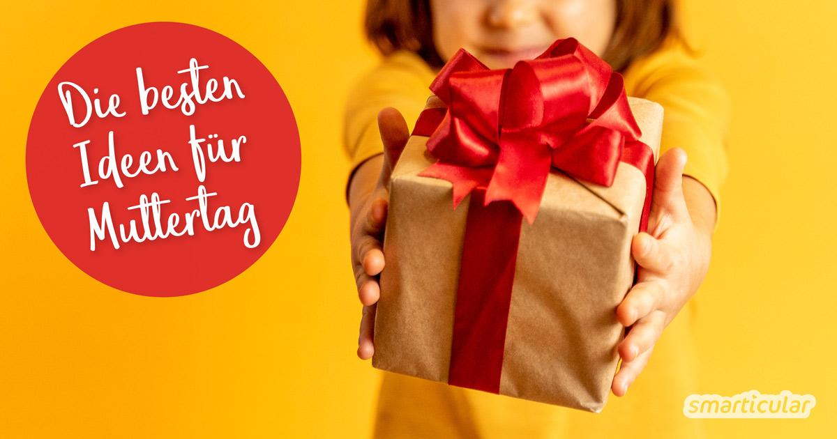 Selbst gemachte Muttertagsgeschenke bereiten oft viel mehr Freude als ein gekaufter Blumenstrauß oder Pralinen. Hier findest du unsere besten Geschenkideen!