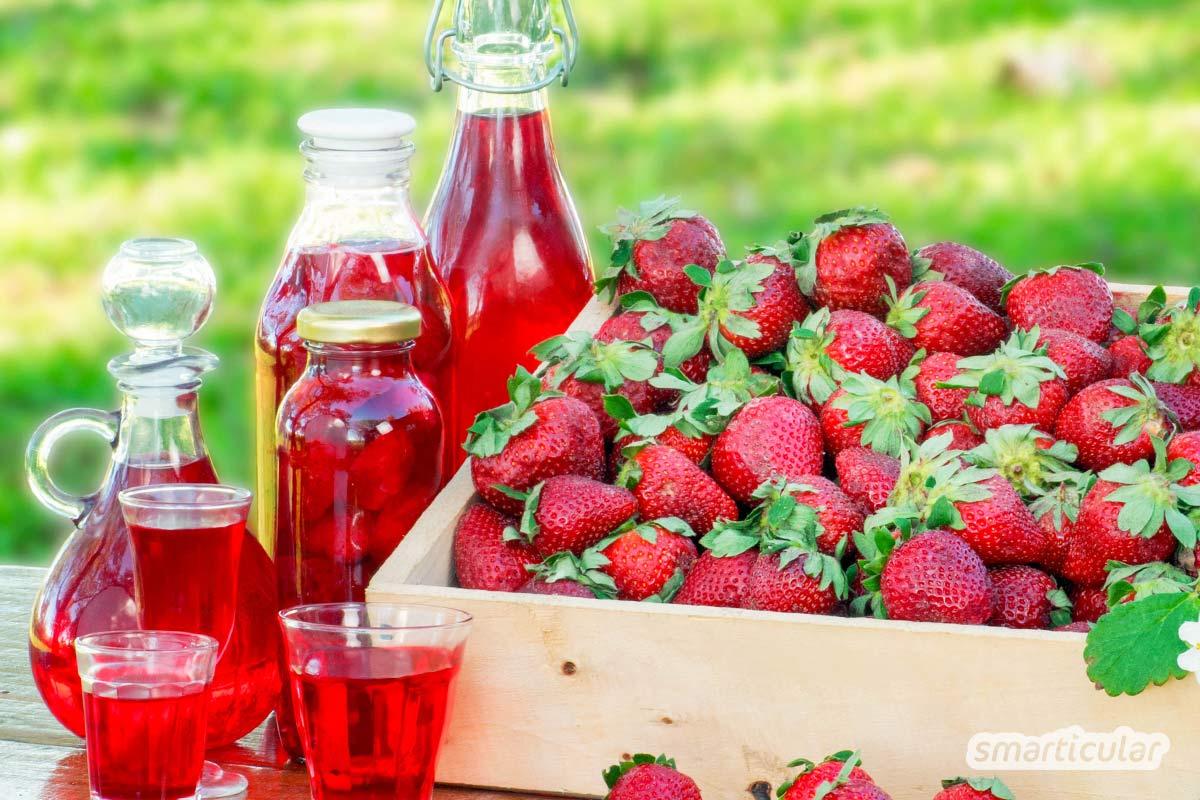 Erdbeeren haltbar zu machen, ist etwas schwierig, da sie beim Einmachen oder Einfrieren oft Form und Farbe verlieren. Wir zeigen, wie's am besten geht.