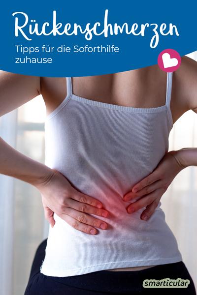 Statt mehr oder weniger lange auf einen Arzttermin zu warten, lassen sich Rückenschmerzen und ähnliche Beschwerden mit einfachen Hausmitteln selbst lindern.