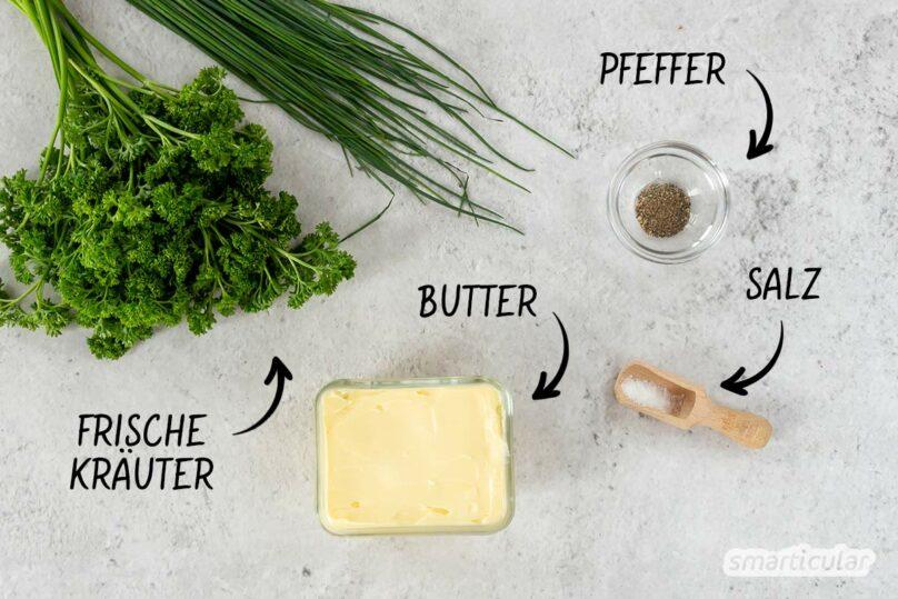 So einfach kannst du Kräuterbutter selber machen - als aromatischen Brotaufstrich, Grillbeilage oder für Kräuterbaguettes - gelingt mit diesem einfachen Rezept garantiert.