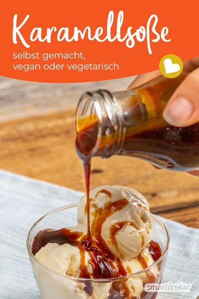 Kaffee, Eis oder Waffeln … So richtig lecker wird's erst mit einem Schuss Karamell! Zum Glück lässt sich mit diesem Rezept ganz leicht Karamellsoße selber machen.