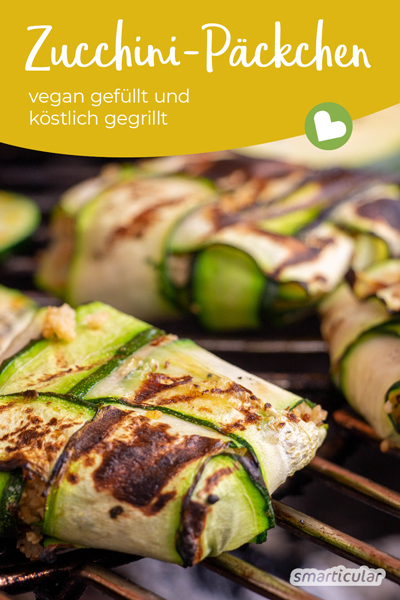Dieses Rezept für gefüllte Zucchini-Päckchen bietet eine abwechslungsreiche Möglichkeit die Zucchini-Ernte köstlich und sogar vegan zu verarbeiten.