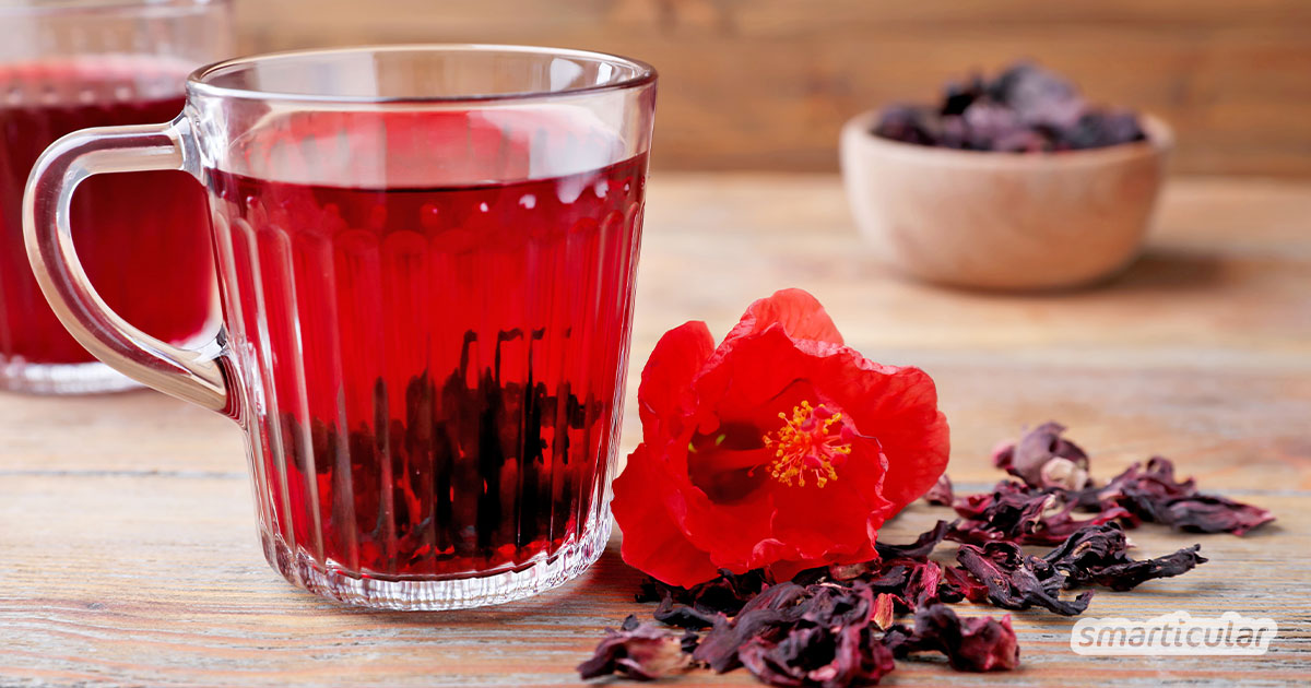 Hibiskusblüten können mehr als Früchtetee rot zu färben, denn sie besitzen heilsame Eigenschaften und sind äußerst aromatisch - zum Beispiel als Hibiskus-Sirup.