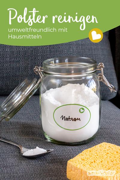 Polster zu reinigen und von unangenehmen Gerüchen zu befreien, funktioniert auch mit einfachen Hausmitteln. Mit diesen Tipps schonst du Umwelt und Geldbeutel.