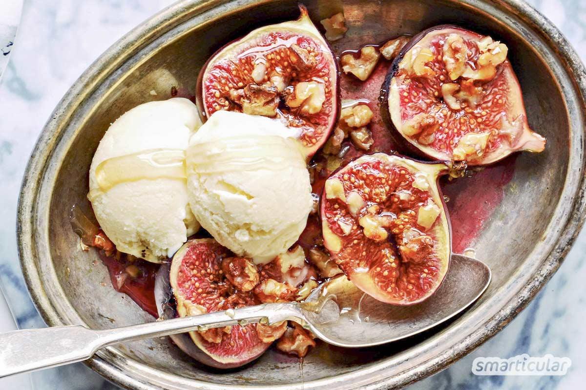 Mit ausgefallenen Eissorten wie Basilikumeis, Käseeis oder Lakritzeis lassen sich auch herzhafte und würzige Aromen eiskalt servieren.
