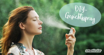 Ein simples DIY-Gesichtsspray sorgt nicht nur für schnelle Frische, es pflegt, beruhigt und spendet auch Feuchtigkeit - für beanspruchte Haut im Winter wie im Sommer.